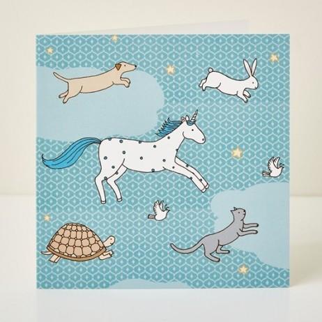 Mary Kilvert - Magic Animals Greeting Card