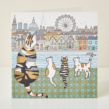 Mary Kilvert - London Cats Greeting Card