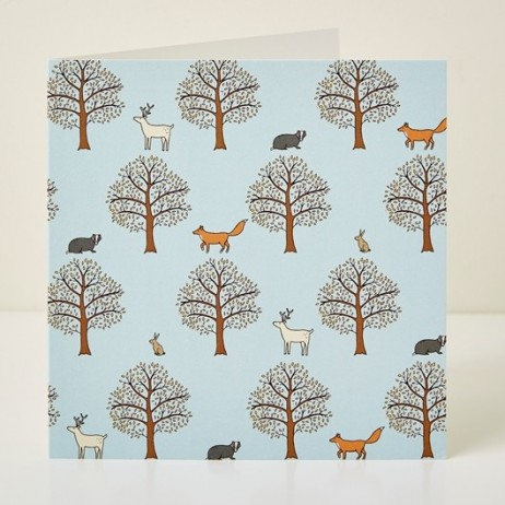 Mary Kilvert - Woodland Pattern Greeting Card