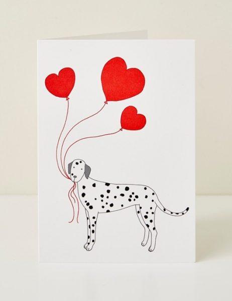 Mary Kilvert - Dog Heart Greeting Card
