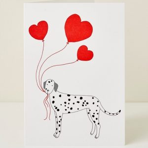 Mary Kilvert - Dog Heart Greeting Card