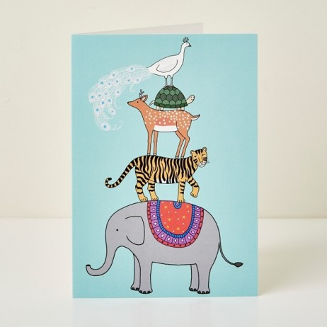 Mary Kilvert - Menagerie Greeting Card