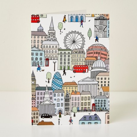Mary Kilvert - London Town Greeting Card
