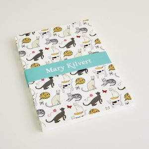 Mary Kilvert - Large Cat Pattern Notebook