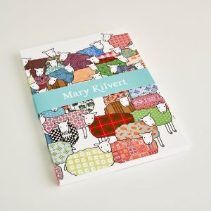 Mary Kilvert - Large Colourful Sheep Notebook