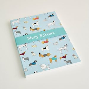 Mary Kilvert - Large Dog Pattern Notebook