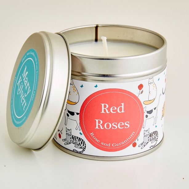 Mary Kilvert - Red Roses Candle