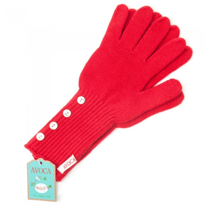 Avoca Cashmere Gloves - Rouge