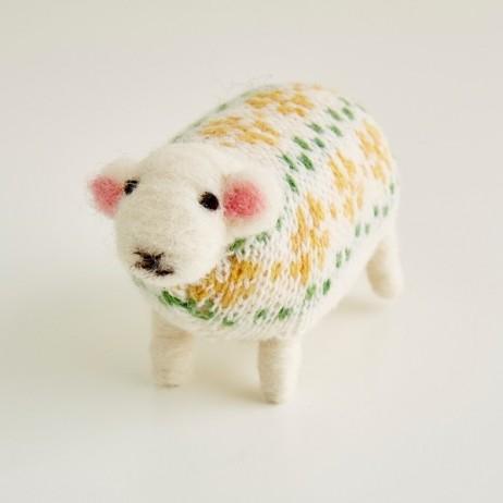 Mary Kilvert - Primrose Felted Sheep