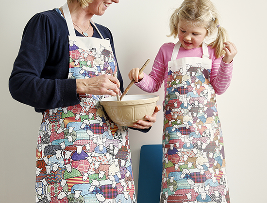 Mary Kilvert - Colourful Sheep Aprons