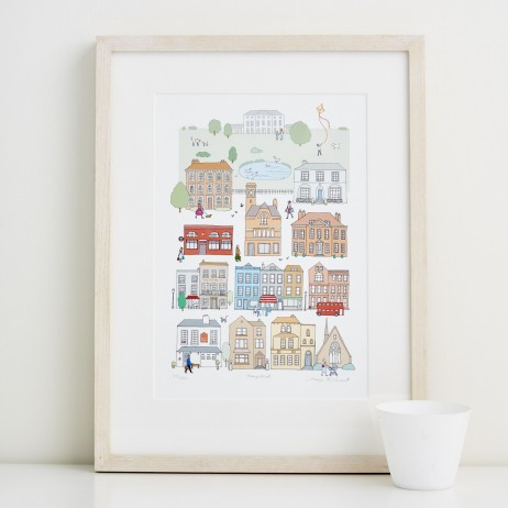 Mary Kilvert - Hampstead Fine Art Print
