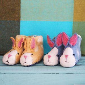 Mary Kilvert - Rabbit Felt Children's Slippers