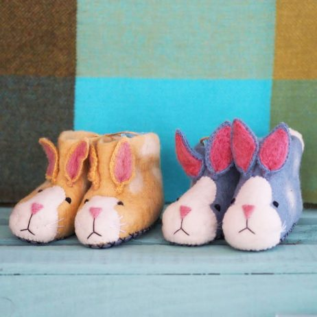 Mary Kilvert - Rabbit Felt Children's Slippers
