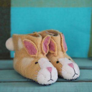 Mary Kilvert - Ruby Rabbit Felt Children's Slippers