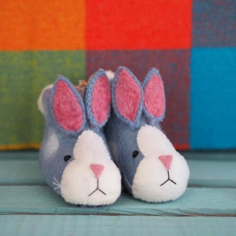 Mary Kilvert - Rory Rabbit Felt Children's Slippers