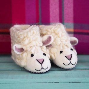 Mary Kilvert - Sheila Sheep Felt Children's Slippers