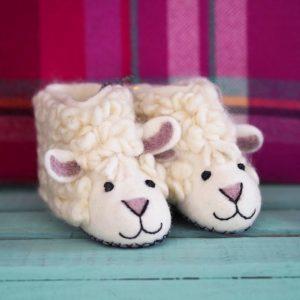 Mary Kilvert - Sheila Sheep Felt Children's Slippers