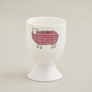 Mary Kilvert - Pink Sheep Egg Cup