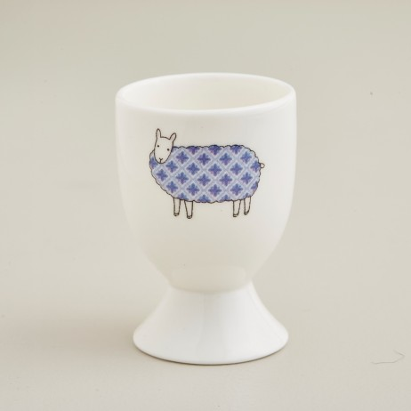 Mary Kilvert - Blue Sheep Egg Cup