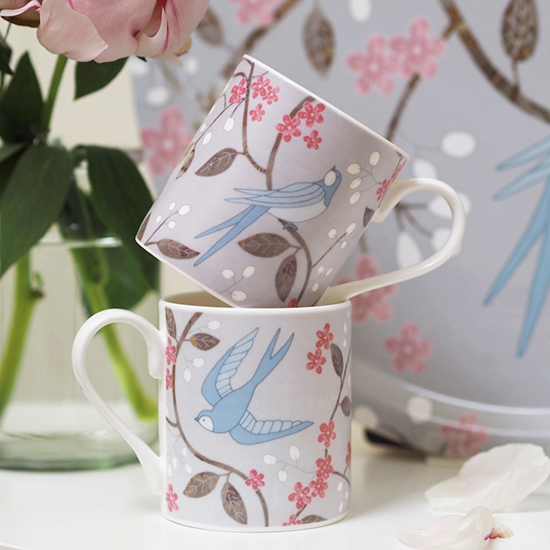 Swallows Mugs - Mary Kilvert