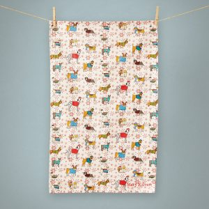 Christmas Canines tea towel - Mary Kilvert