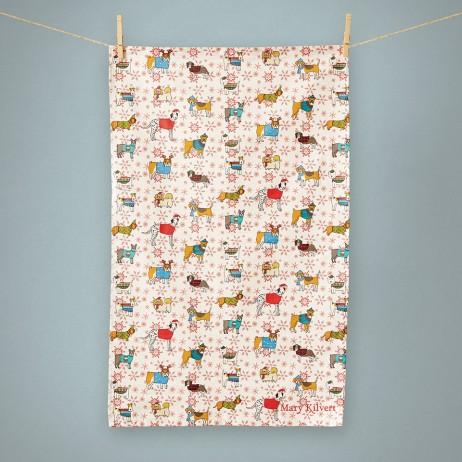 Christmas Canines tea towel - Mary Kilvert