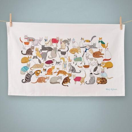 Crafty Cats Tea Towel
