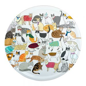 Crafty Cats Round Tray