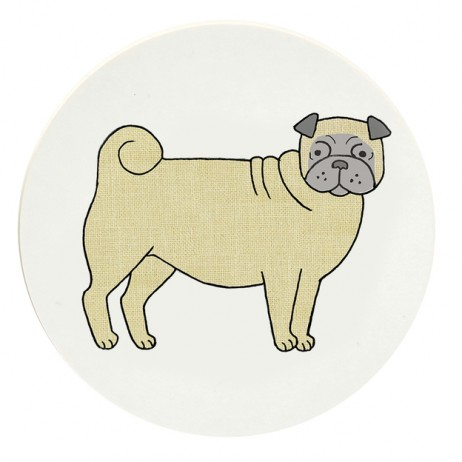 Pooches Coaster - Pug