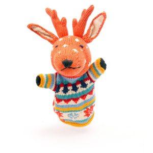 Reindeer Cotton Hand Puppet