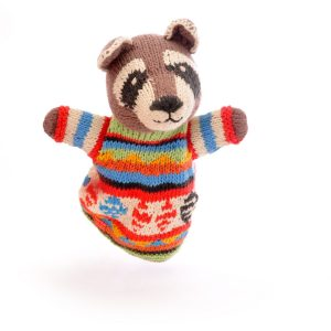 Raccoon Cotton Hand Puppet