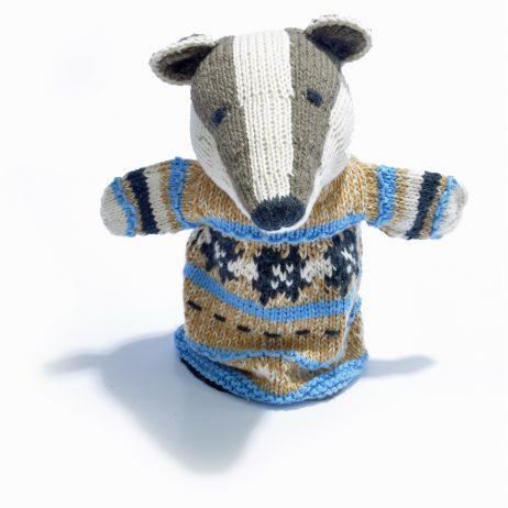 Badger Cotton Hand Puppet
