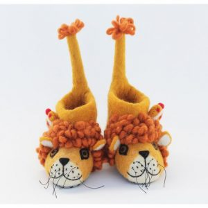 Lion Felt Children's Slippers