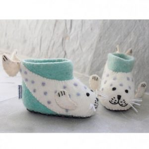 Seal Felt Children's Slippers