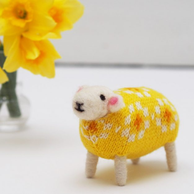 Daffodil Felted Sheep