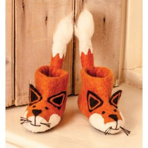 Fox Felt Children's Slippers