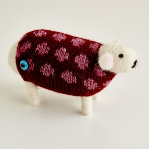 Dotty the Felted Sheep
