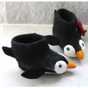 Penguin Felt Children's Slippers