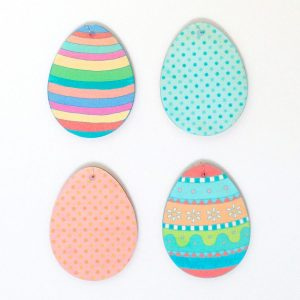 Easter Egg Wooden Decorations