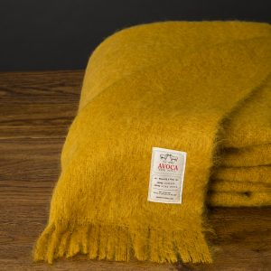 Mohair Throw in Amber