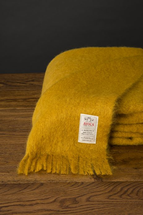 Amber Mohair Throw by Avoca
