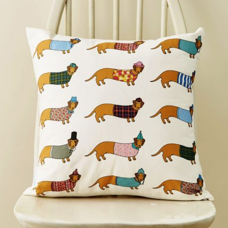 Larry Long Dog Pattern Cushion