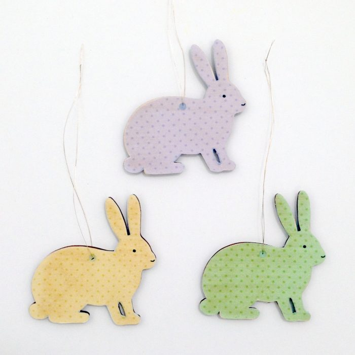 Bunny Wooden Decorations