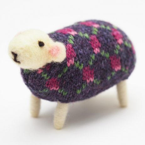 Blackberry Felted Sheep