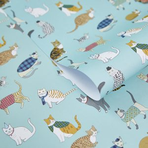 Cat Pattern Gift Wrap