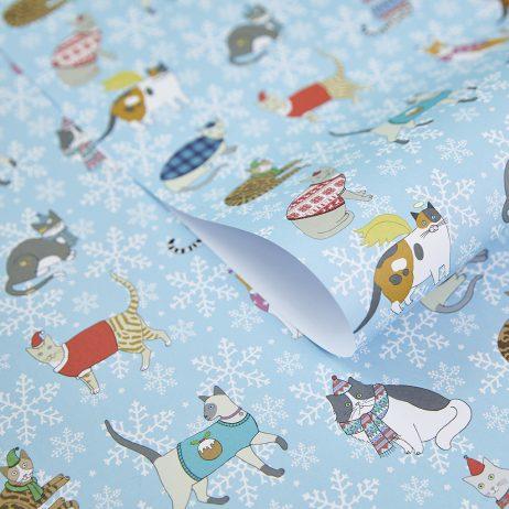 Christmas Cats Gift Wrap