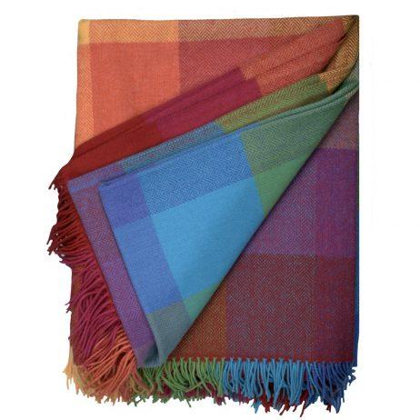 Rainbow Lambswool Blanket