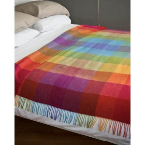 Rainbow Lambswool Blanket
