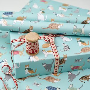 Cat Pattern Gift Wrap by Mary Kilvert