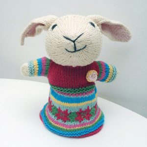 Lamb Cotton Hand Puppet